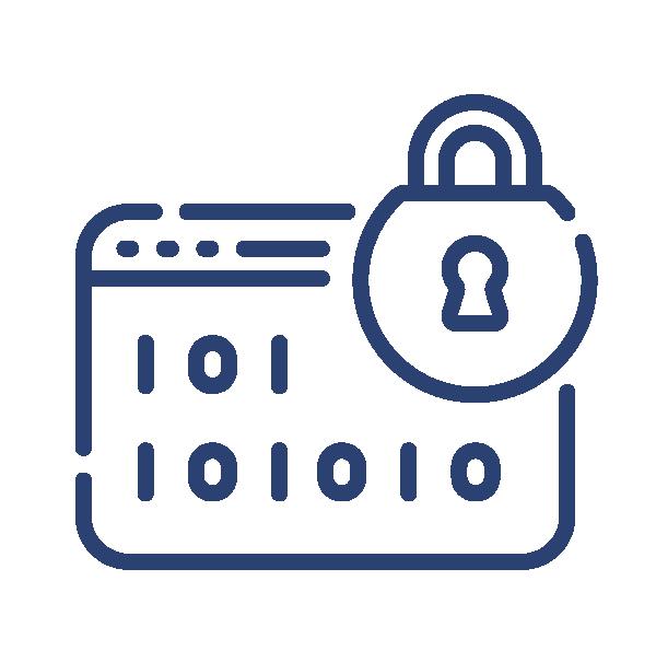 lock graphic representing security